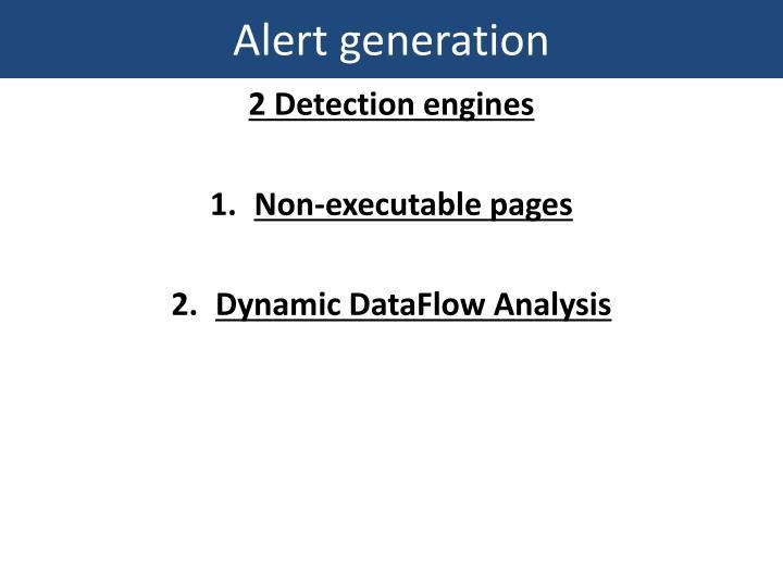 Alert generation