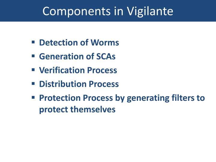 Components in Vigilante
