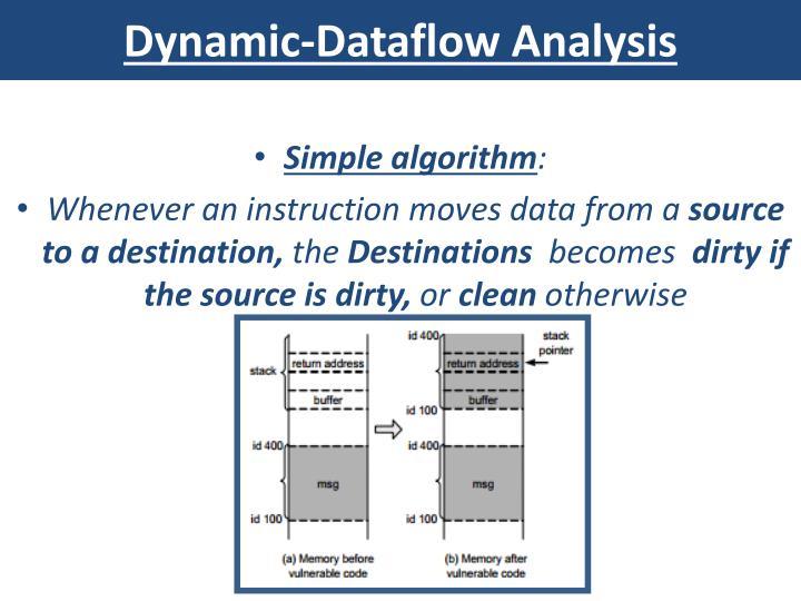 Dynamic-Dataflow Analysis