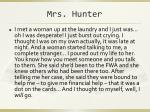 mrs hunter