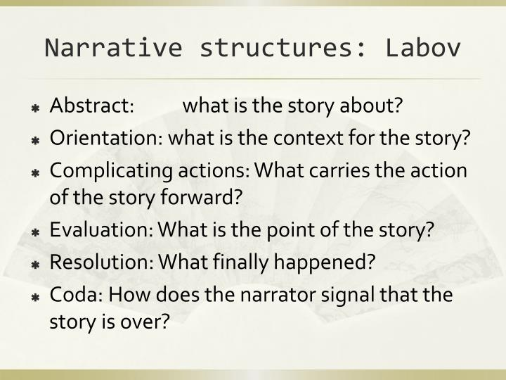 Narrative structures: