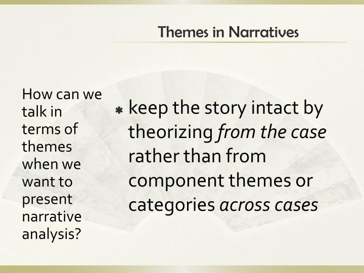 Themes in Narratives
