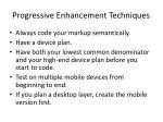 progressive enhancement techniques