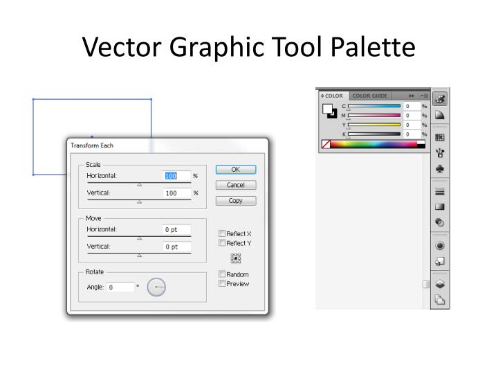 Vector Graphic Tool Palette