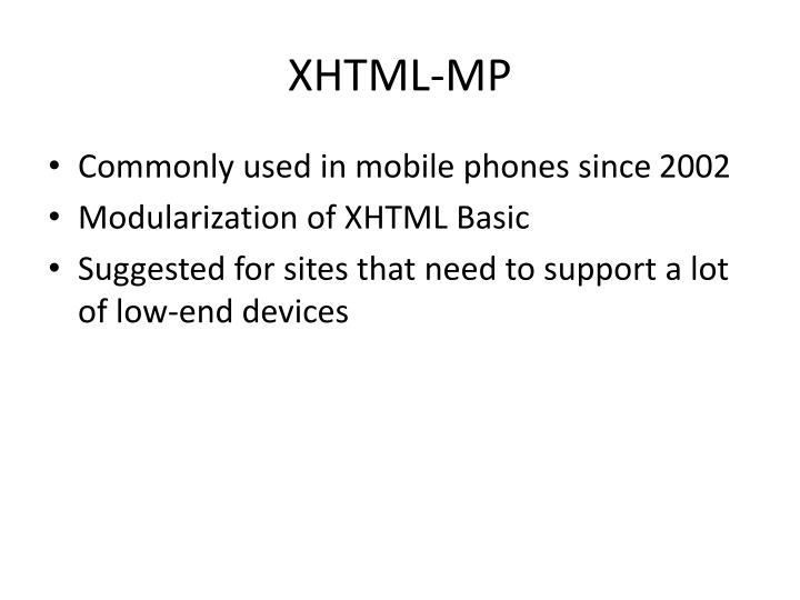 XHTML-MP