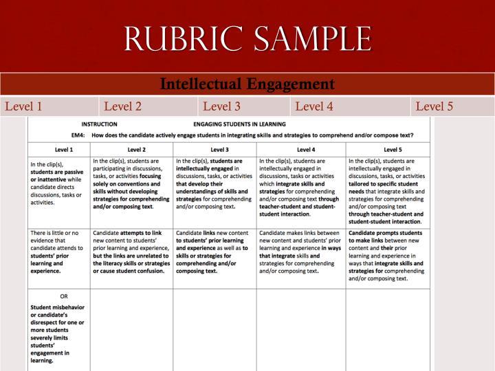 Rubric Sample