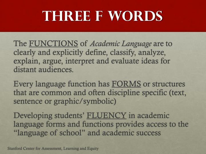 Three F Words
