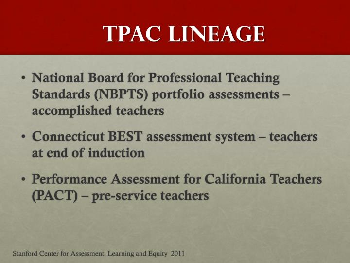 TPAC Lineage