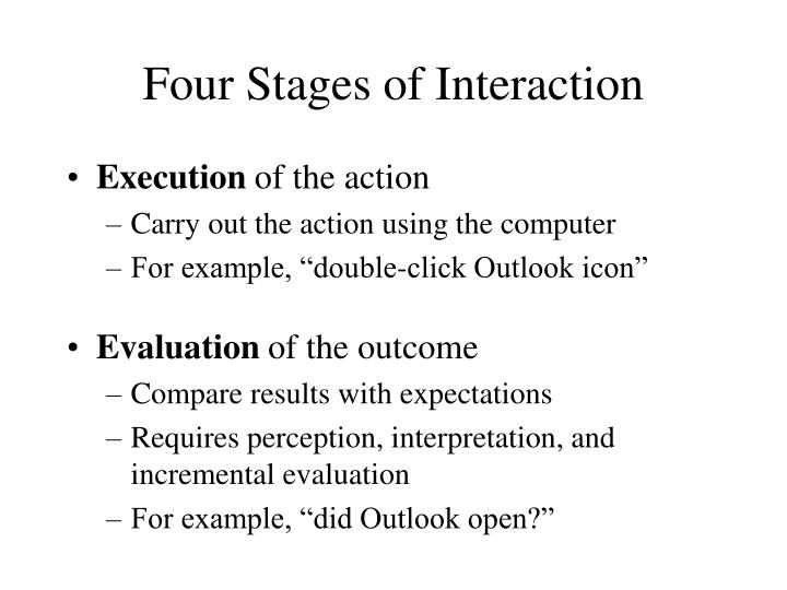 Four Stages of Interaction