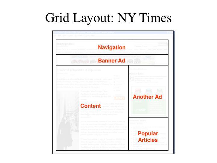 Grid Layout: NY Times