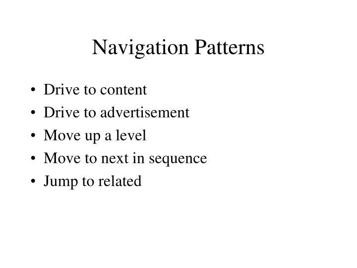 Navigation Patterns