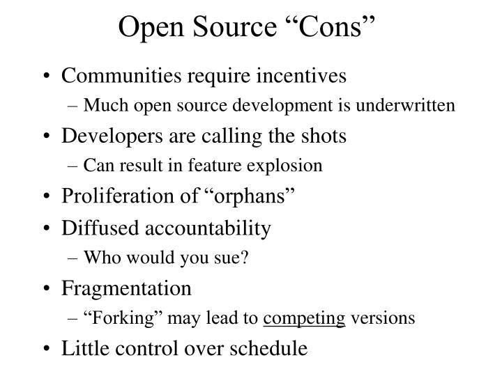 "Open Source ""Cons"""