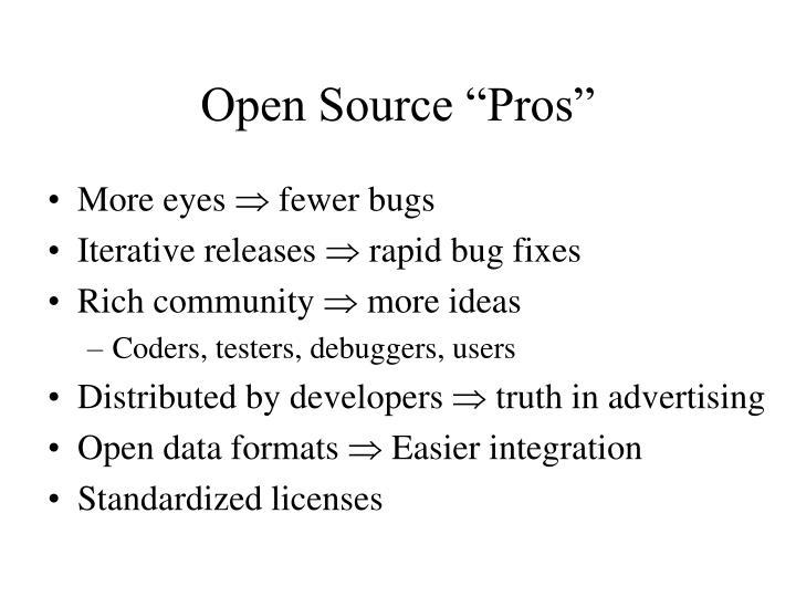 "Open Source ""Pros"""