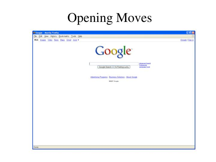 Opening Moves