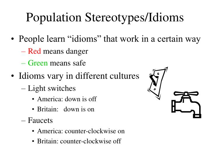 Population Stereotypes/Idioms