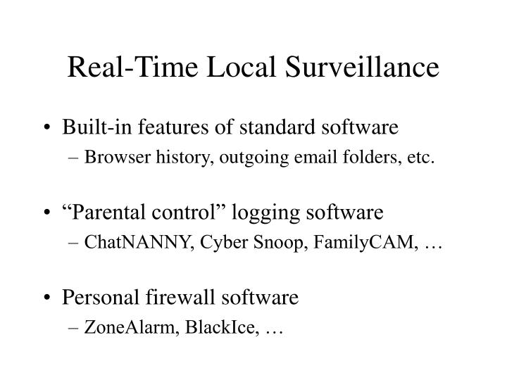 Real-Time Local Surveillance