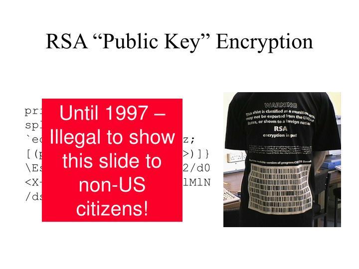 "RSA ""Public Key"" Encryption"