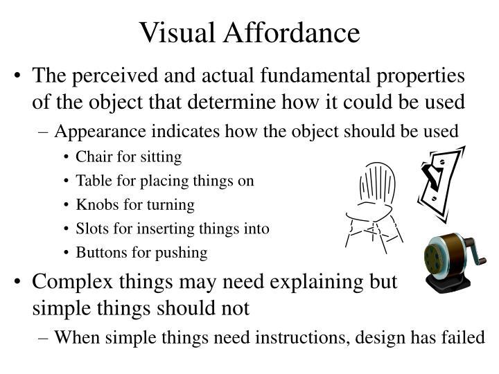 Visual Affordance