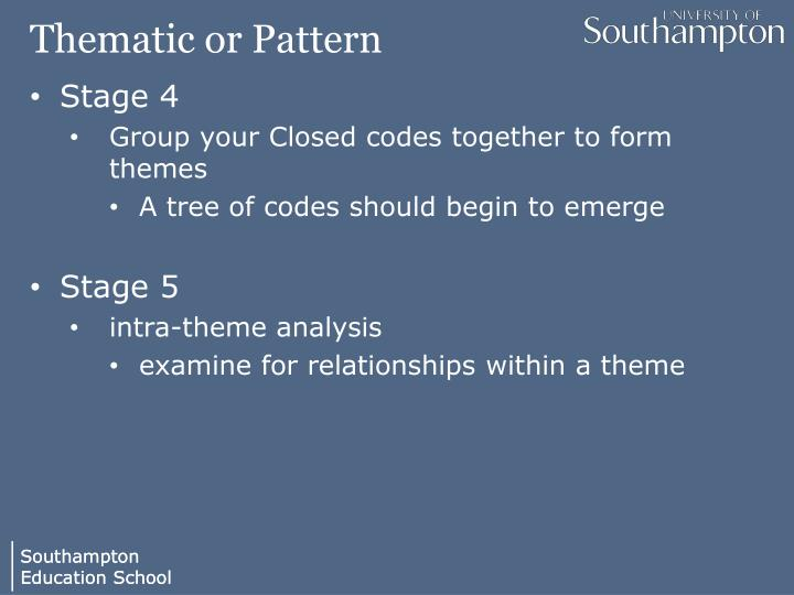 Thematic or Pattern