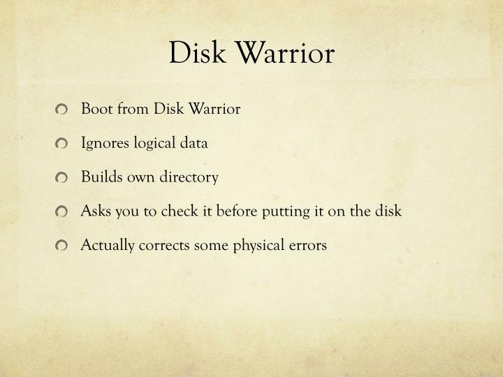 Disk Warrior