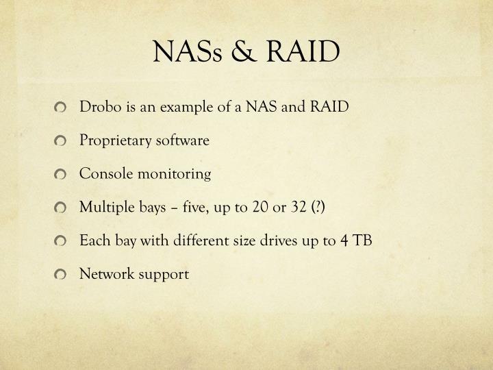NASs & RAID