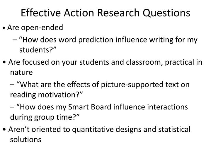 Effective Action Research Questions