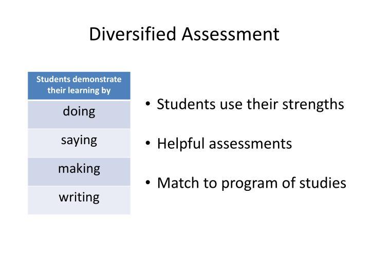 Diversified Assessment