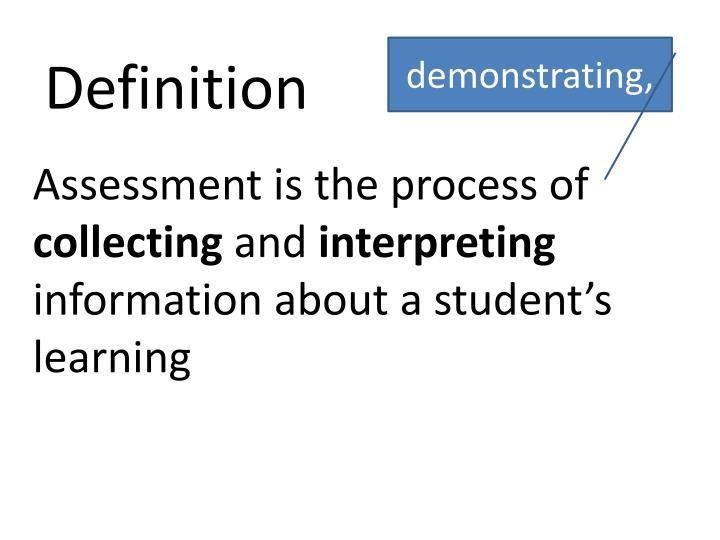 demonstrating,