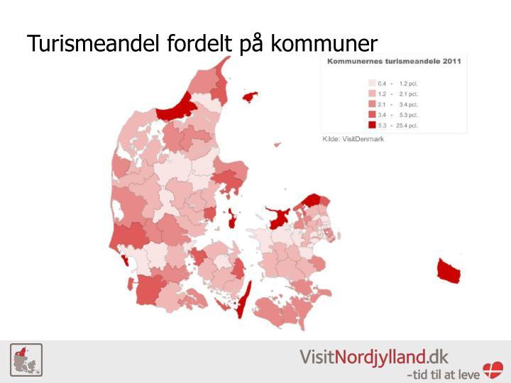 Turismeandel fordelt på kommuner