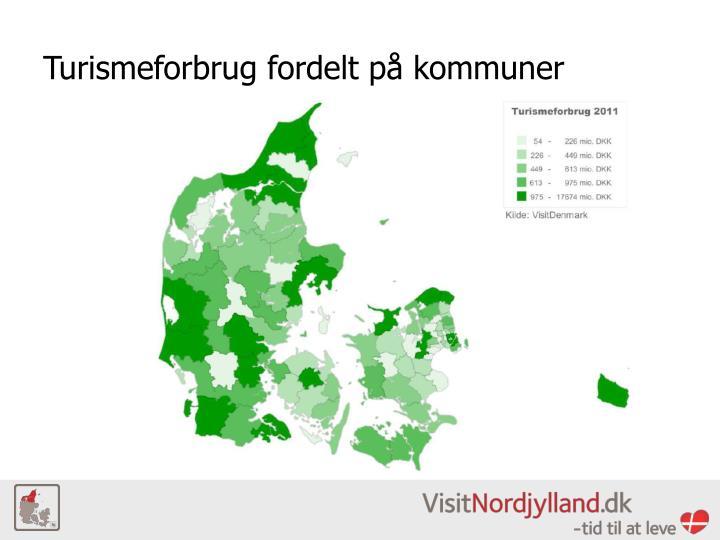 Turismeforbrug fordelt på kommuner