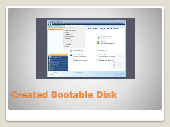 Created Bootable Disk