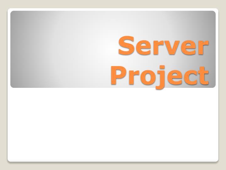 Server Project