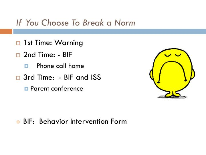 If You Choose To Break a Norm