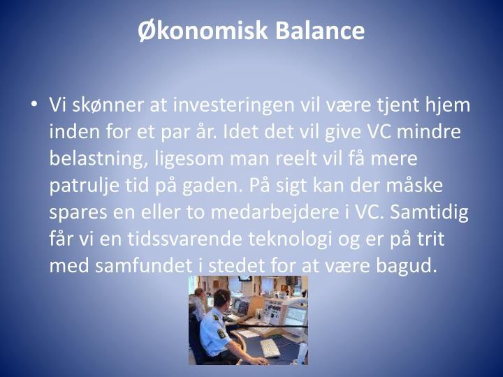 Økonomisk Balance