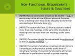 non functional requirements issues solutions1