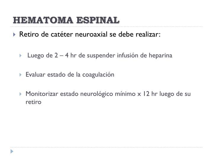 HEMATOMA ESPINAL