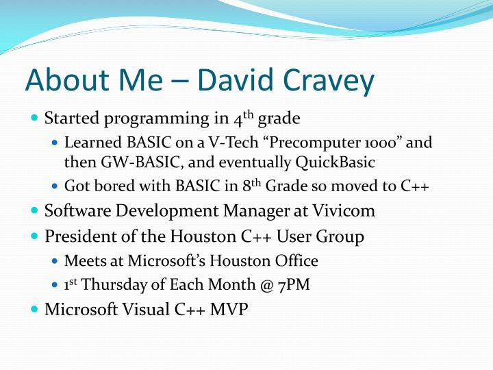 About me david cravey