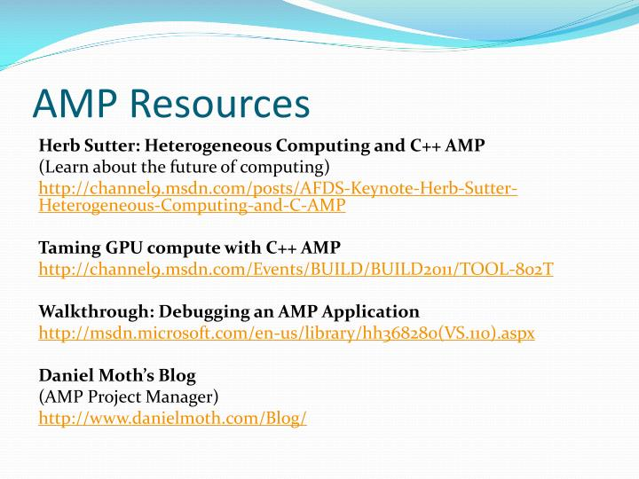 AMP Resources
