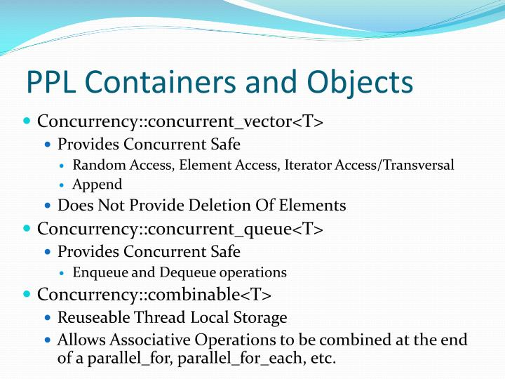 PPL Containers and Objects
