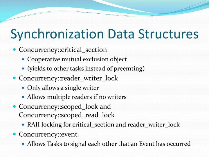 Synchronization Data Structures