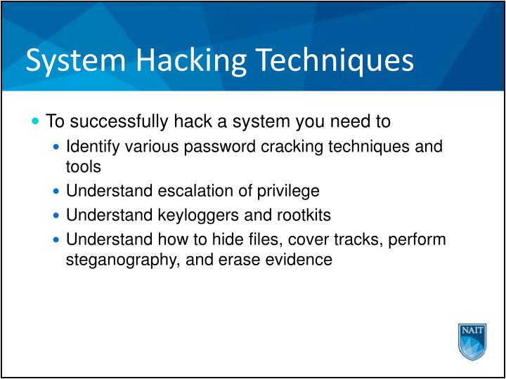 System Hacking Techniques