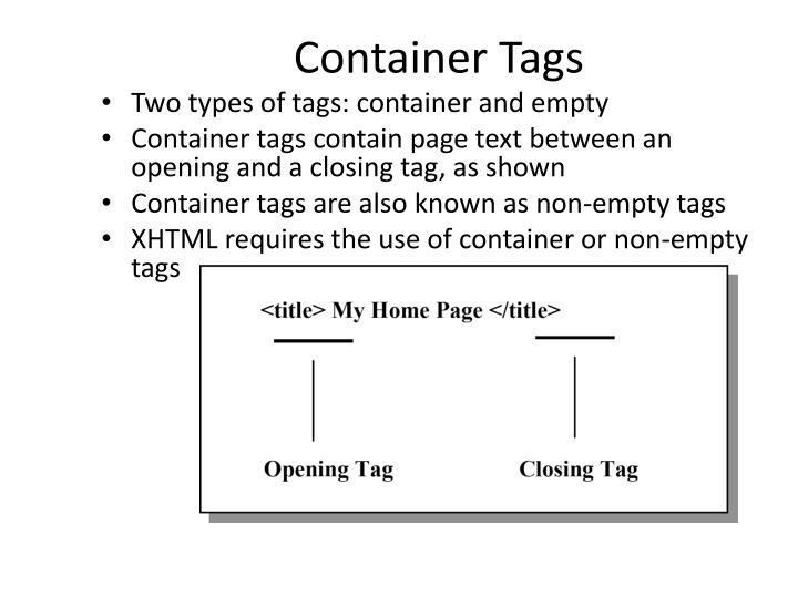 Container Tags