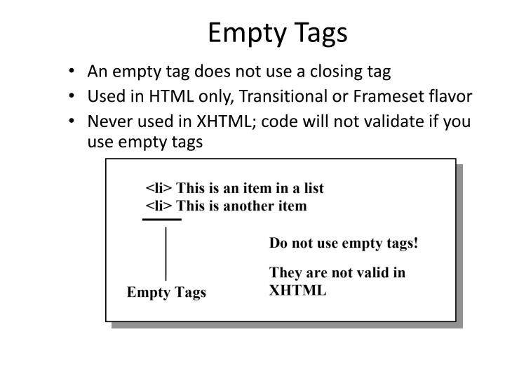 Empty Tags