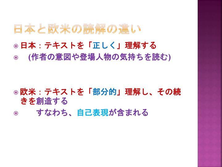 日本と欧米の読解の違い