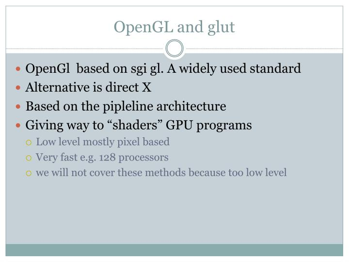 OpenGL and glut