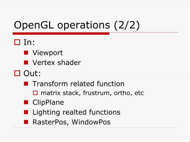 OpenGL operations (2/2)