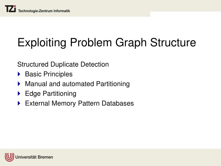 Exploiting Problem Graph Structure