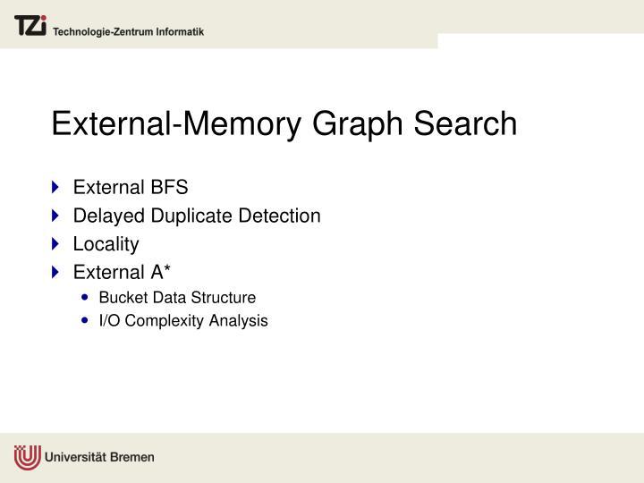 External-Memory Graph Search