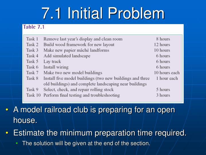 7.1 Initial Problem