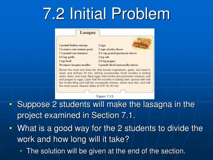 7.2 Initial Problem